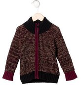 Little Marc Jacobs Boys' Chunky Knit Zip Cardigan w/ Tags