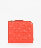 Comme des Garcons Half Zip Star Embossed Wallet