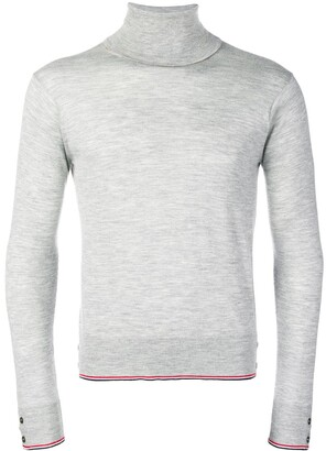 Thom Browne Classic Cashmere Turtleneck Pullover