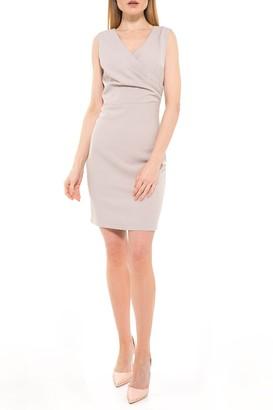 Alexia Admor Kylie V-Neck Ruched Dress