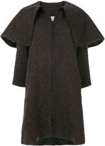 Gianluca Capannolo oversized collar woven coat