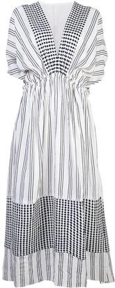 Lemlem Tigist mixed-print dress