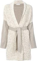 Fabiana Filippi belted cardigan coat - women - Spandex/Elastane/Cashmere/Merino - 42