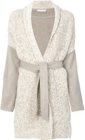 Fabiana Filippi belted cardigan coat