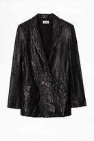 Zadig & Voltaire Visco Crinkle Leather Jacket