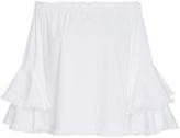 Caroline Constas Off-The-Shoulder Cotton Blouse