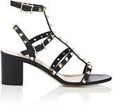 Valentino Women's Rockstud Triple-Strap Sandals-BLACK
