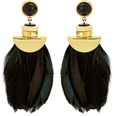 Lizzie Fortunato Eagle feather-drop earrings