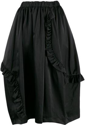Comme des Garcons frill trimmed skirt