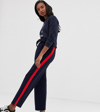 Only Tall side stripe wide leg trouser