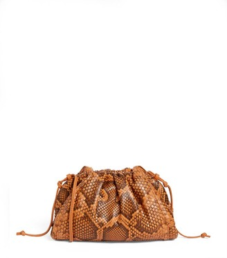 Bottega Veneta The Mini Python Pouch Cross-Body Bag