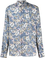 Barba buttoned floral print shirt