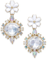 Kate Spade Gold-Tone Multi-Stone Flower Drop Earrings