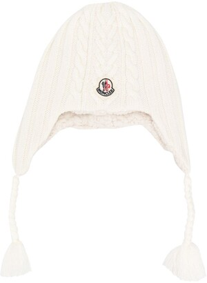 Moncler logo knitted hat