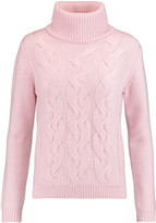 N.Peal Cashmere Cable-knit wool and cashmere-blend turtleneck sweater