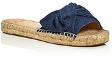 Marc Fisher Valey Denim Slide Sandals