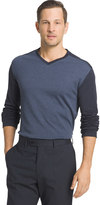 Van Heusen Big & Tall Jaspe Classic-Fit Colorblock V-Neck Sweater