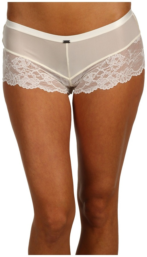 Calvin Klein Underwear Calvin Klein Black Lace Leg Sleep Short (Ivory) - Apparel