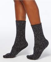 Hue Women's Color-Twist Tweed Ribbed Boot Socks