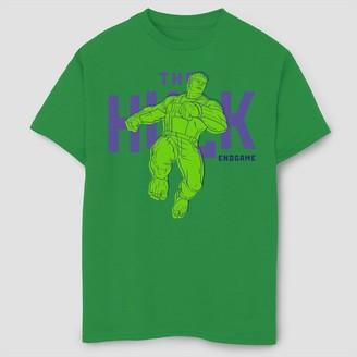 Marvel Boys' Marve Text Pop Huk Short Seeve Graphic T-Shirt -