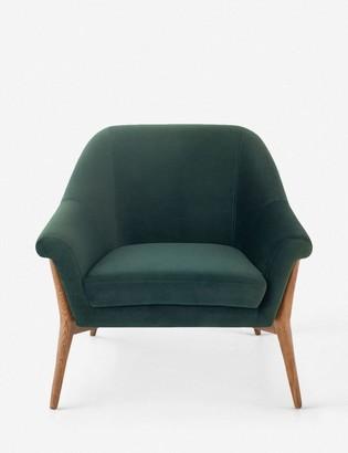 Lulu & Georgia Taitum Accent Chair, Emerald Green