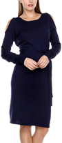 Stanzino Navy Open-Shoulder Sheath Dress