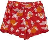 Kickee Pants Print Ruffle Shorts (Baby) - Poppy Orange-6-12 Months