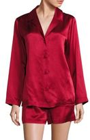 Saks Fifth Avenue Collection Two-Piece Silk Top & Shorts Pajama Set