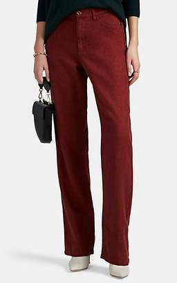 Leo & Sage Women's Linen-Cotton Relaxed Trousers - Red