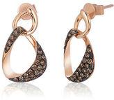 Le Vian 14K Strawberry Gold Linked Chocolate Diamond Earrings