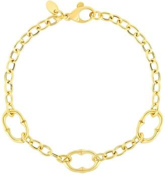Sphera Milano 14K Yellow Gold Plated Sterling Silver Link Bracelet
