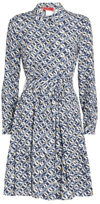 Max & Co. Geometric Print Collared Mini Dress