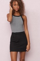 Garage Black Retro High Waist Mini Skirt