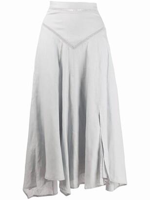 Etoile Isabel Marant Asymmetric Flared Midi Skirt