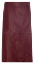 By Malene Birger Leather midi skirt