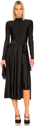 Rotate by Birger Christensen Tie Long Sleeve Dress in Black | FWRD