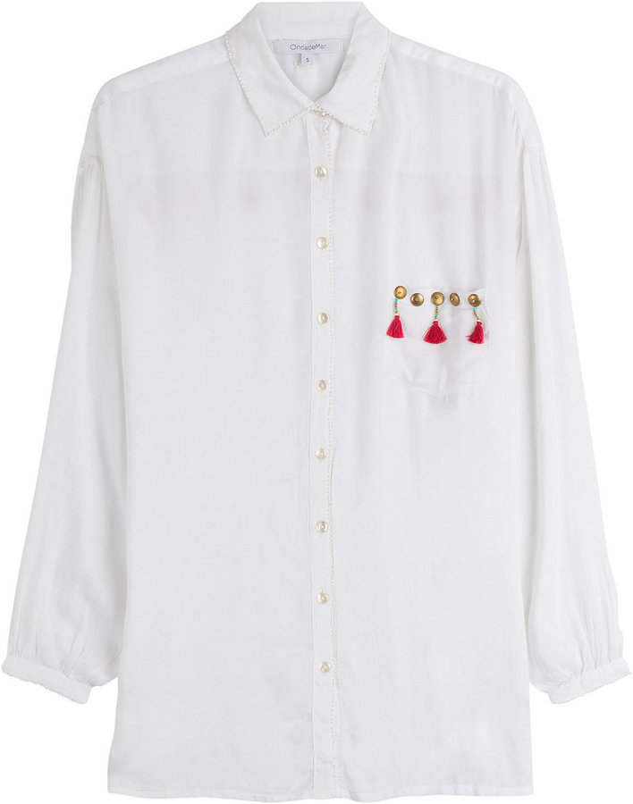 OndadeMar Tassel and Stud Embellished Shirt