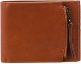 Maison Margiela zipped billfold wallet - men - Cotton/Calf Leather/Polyester - One Size