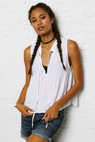 American Eagle Outfitters Don't Ask Why Tie-Front Sleeveless Shirt