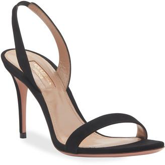 Aquazzura So Nude 85mm Suede Sandals
