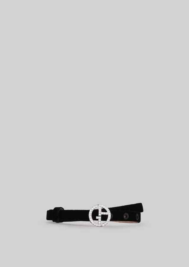 Giorgio Armani Velvet Belt With Crystals