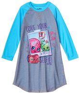 "Girls 4-12 Shopkins Cam Camera ""Love Your Selfie"" Nightgown"
