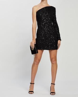 KIANNA - Women's Black Mini Dresses - Carine Beaded Dress - Size One Size, 6 at The Iconic