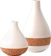 Cork & Ceramic Vases Set