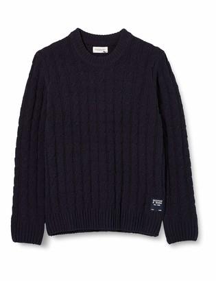 Scotch /& Soda Boys Yarn Dyed Stripe Pull in Chenille Quality Sweater