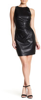 Bailey 44 Dades Valley Faux Leather Pleated Sheath Dress