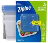 Ziploc® Medium Square Containers - 3ct