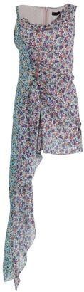 Atlein Floral Silk Asymmetric Mini Dress