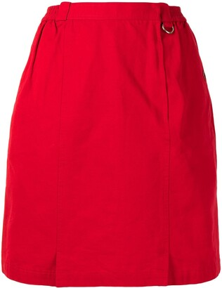 1990s pre-owned Sports high-waist straight-fit skirt