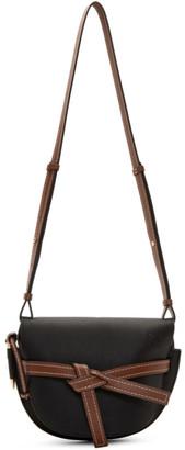 Loewe Black and Brown Small Gate Bag